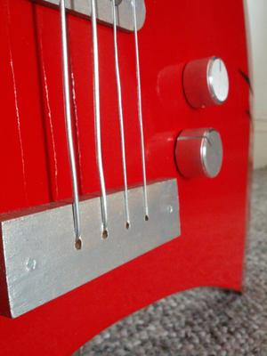 Axe bass bridge and knobs